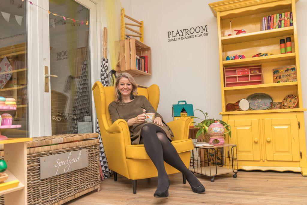 Nathalie's magische gele stoel