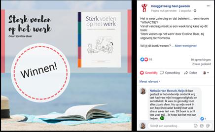 Facebook winactie van 'Hooggevoelig heel gewoon'
